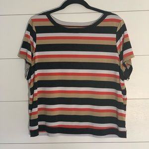 Lane Bryant Stripe Crop Top
